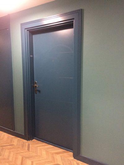 Porte isotherme bleue