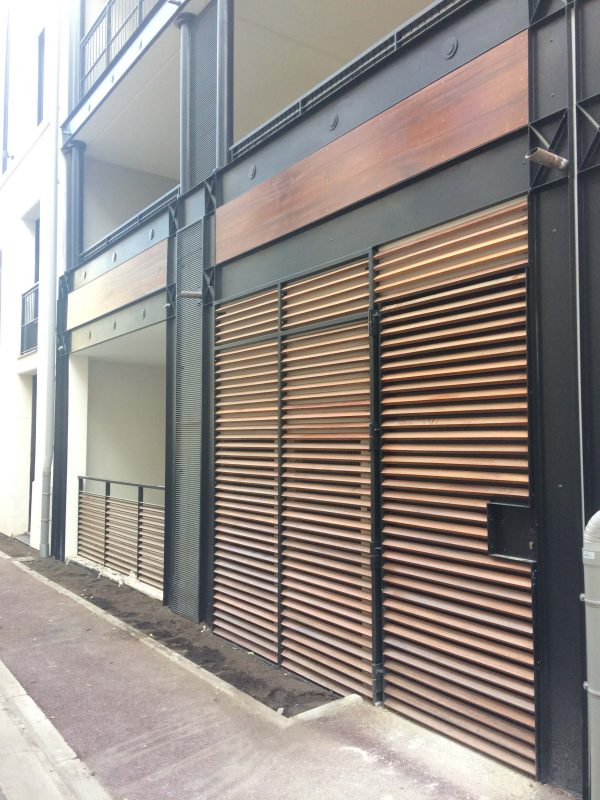 Façade extérieure avec bardage bois