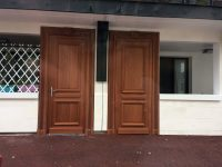 Porte extérieure bois