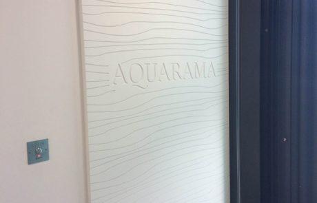 Habillage mural de la résidence Aquarama