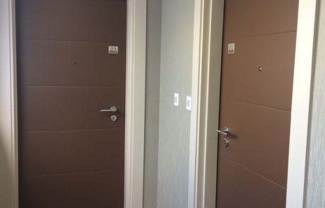 Porte palière bois