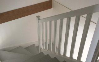 Haut d'escalier bois