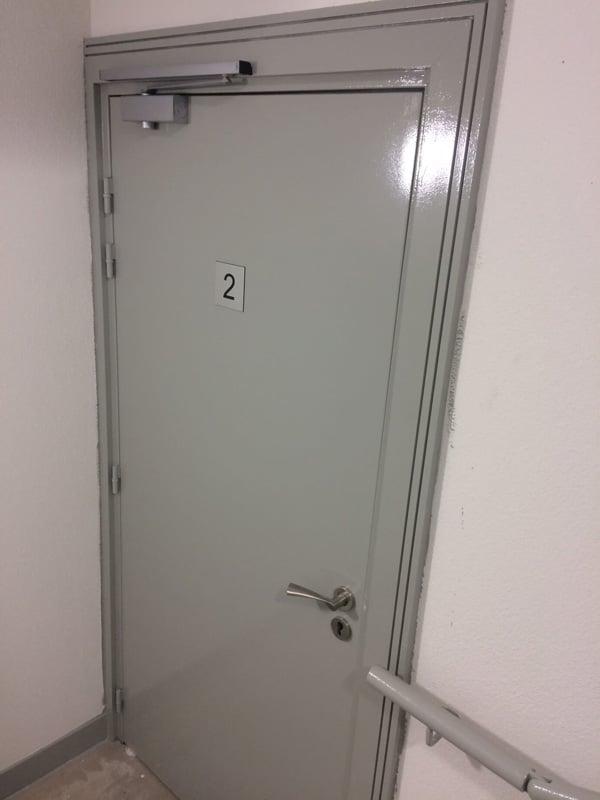 Une porte blindée